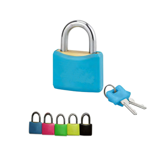 Brass Padlock with Plastic cover